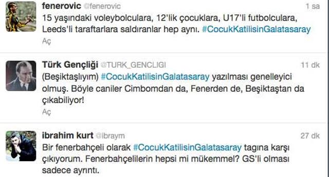 Twitter'da Galatasaray genellemesine tepki