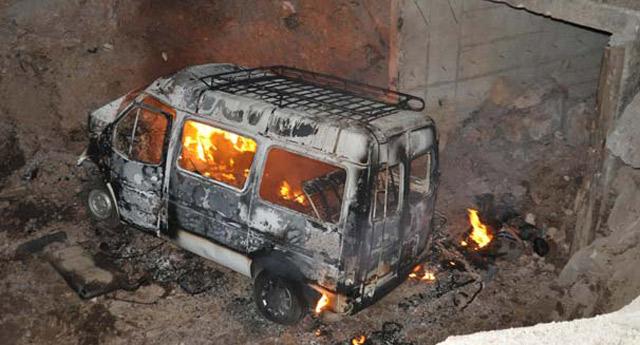 Konya'da feci kaza! 5 kişi yanarak can verdi