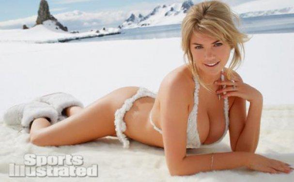 Beyaz karlar üzerinde Kate Upton!