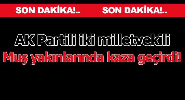 AK Partili vekiller Muş yakınlarında kaza geçirdi