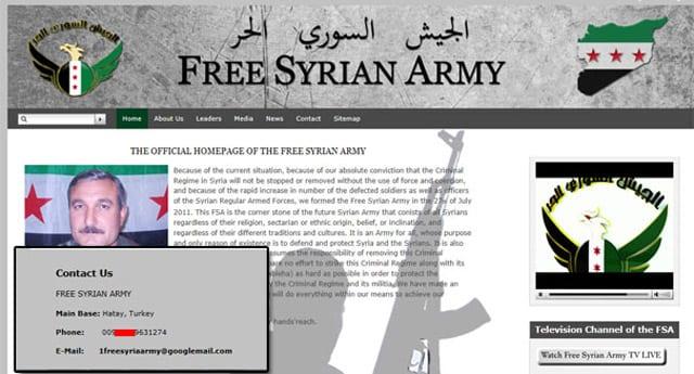 Özgür Suriye Ordusu'nun iletişim bilgileri Türk kamuoyunu karıştırdı