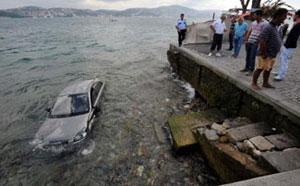 Park ederken denize düştü