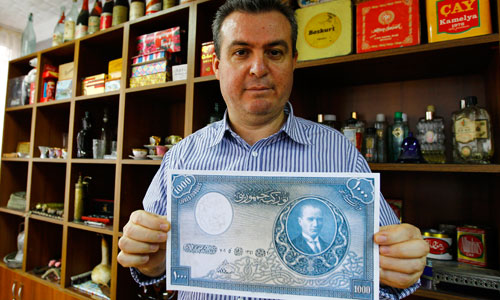 İş Bankası'nın banknotu 500 bin lira