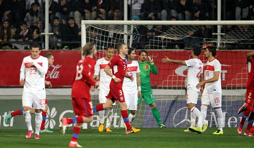 A Milli Takım maçında 2 gol vardı