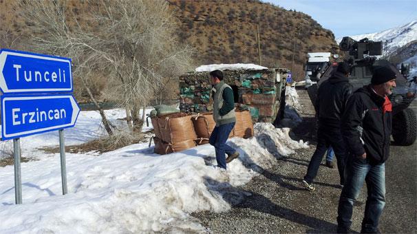 Tunceli-Erzincan karayolunda operasyon!