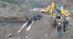 Sakarya'da NATO petrol boru hattı delindi