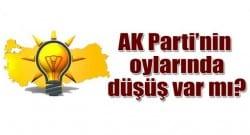 AK Parti'nin oyları düştü mü?