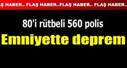 Emniyet Müdürlüğü'nde deprem! 80'i rütbeli 560 polis değiştirildi!