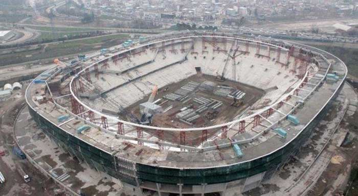 Timsah Arena Yapım Aşaması fotoğrafları
