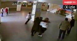 Okulda öğretmene saldırı kamerada!