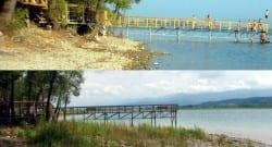Sapanca Gölü'nün 10 ay öncesi ve sonrası!