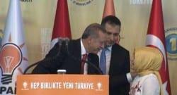 Kongre konuşmasından önce Erdoğan'a sürpriz!