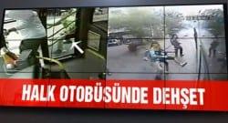 Halk otobüsüne molotofla saldırı kameralara yansıdı!!