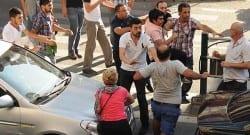 Kayseri'de yol ortasında 7 kişi birbirine girdi!