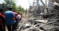 Dicle Üniversitesi'nin  yanındaki inşaat çöktü!