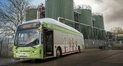İnsan dışkısı ve atık yemeklerle çalışan otobüs!