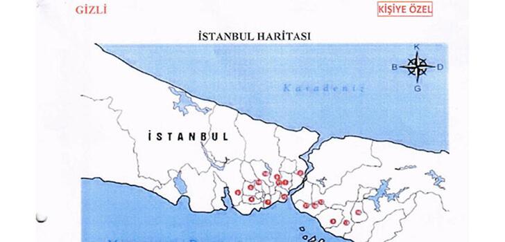 """FETÖ'nün darbe girişimci generalinin odasından """"Türkiye'yi bölme planı"""" çıktı"""