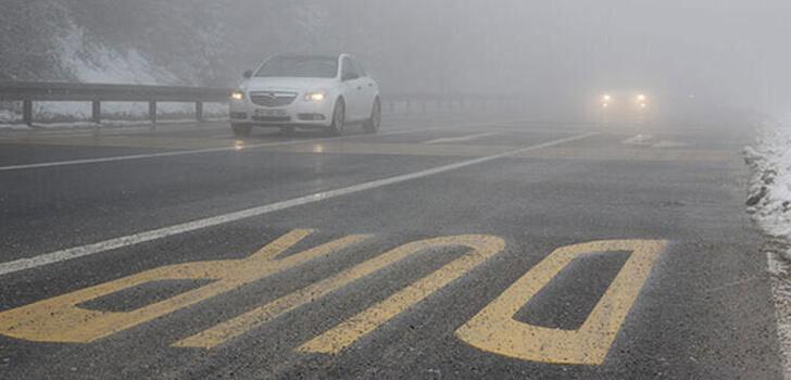 Bolu Dağı'nda sis! Görüş mesafesi 15 metreye düştü