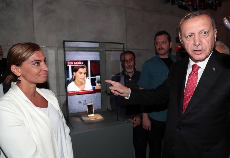 iPhone FaceTime Hande Fırat Cumhurbaşkanı Recep Tayyip Erdoğan