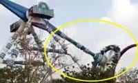 Lunaparkta dehşet! 20 metre yükseklikten düştüler…