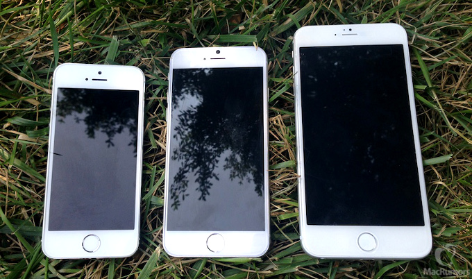 iPhone 5s ve iPhone 6 aynı karede!